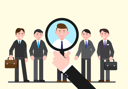 Business illustration - Looking,searching for human resources