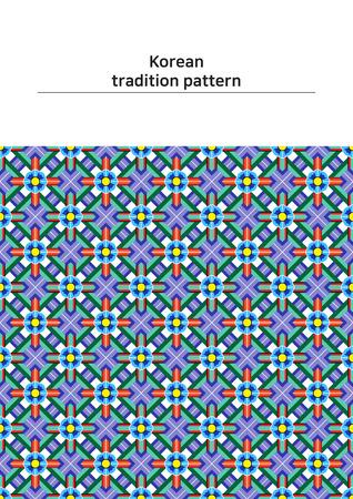 パターン サンプル - 色の韓国の伝統的なパターンのイラスト  イラスト・ベクター素材