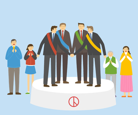 Election illustration - Candidates shaking hands Illustration