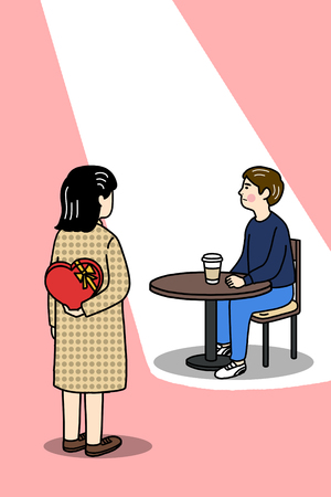 Funny illustration - Couples on valentines day Illustration
