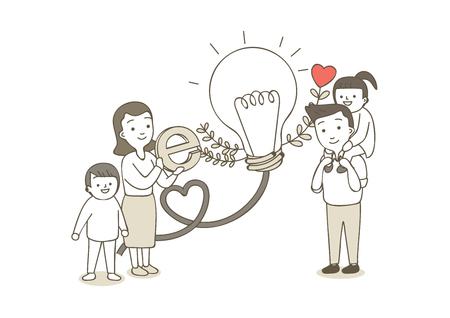 Charity,donation illustration - Fund raising 向量圖像