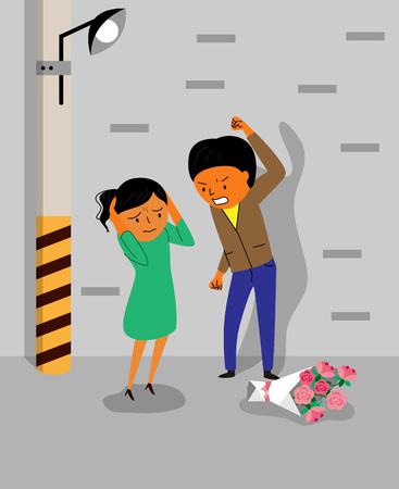Verschiedene Arten von Gewalt - Datierung, häuslich, körperlich