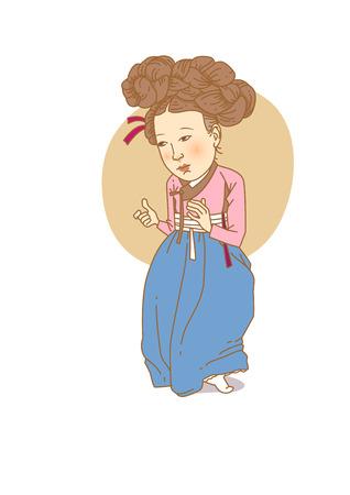 有名な歴史上の人物の似顔絵白 - 分離した韓国、偉大な女性、論介