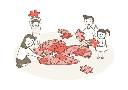 Liefdadigheid, donatie illustratie - Grote liefde samen