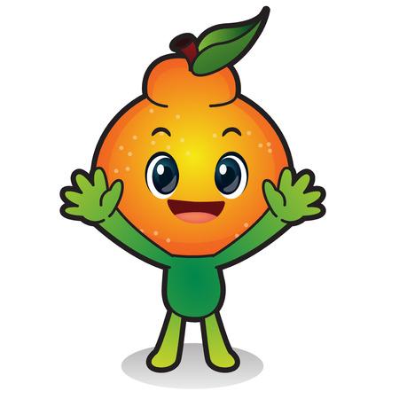 Légumes frais, fruits icône de caractère isolé en blanc - mandarine, Orange, Hallabong Banque d'images - 84898604