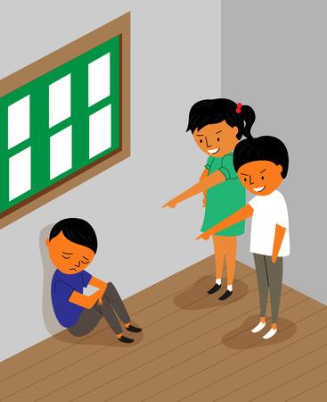 Various types of violence - verbal,school 矢量图像