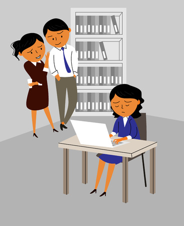 Various types of violence - office,bullying