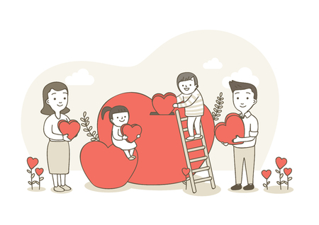 Charity,donation illustration - Fund raising 向量圖像