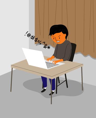 Various types of violence - online,verbal