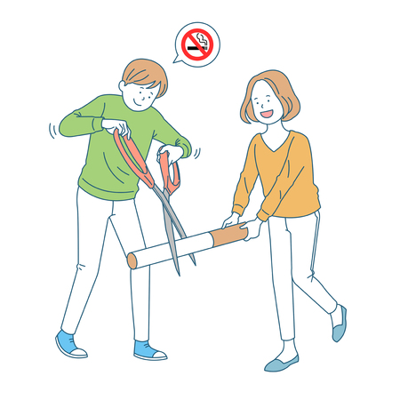 Personal health and hygiene illustration - Stop smoking