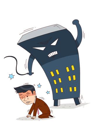 Illustration of job market - Bad employers,harsh work environment