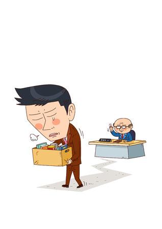Illustration of job market - Firing,letting go,discharge