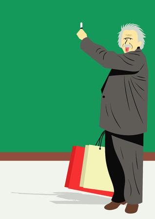 Minimal,simple illustration of famous figures - Albert Einstein Illustration