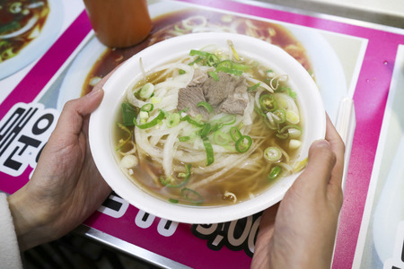 republic of korea: Street food - Various kinds of noodle dishes