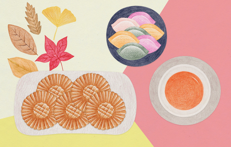 Korean traditional food for Korean Thanksgiving and Lunar new year - Korean traditional sweets,desserts