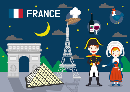 Global village concept vector illustration - France Illustration