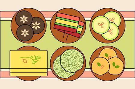 Korean traditional holidays- Lunar new year, Chuseok concept vector illustration