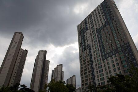 public housing: Tall apartment buildings in Korea