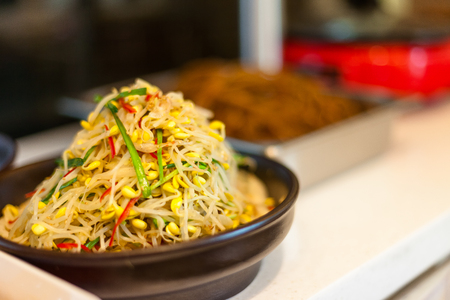bean sprouts: Korean side dishes - cooked greens