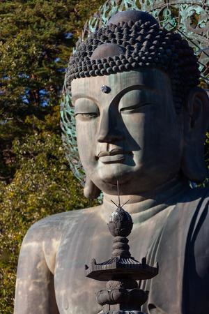 Mt. Seorak in Autumn - Statue of Buddha