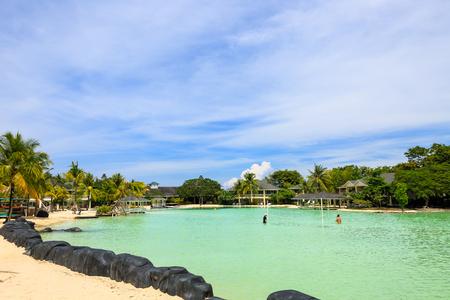 Cebu Island - Scenery of gigantic pool of resort Editorial