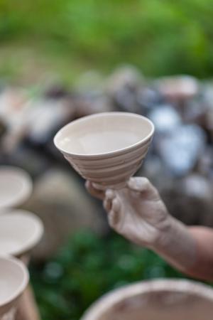 한국 민속촌 - 도자기 그릇에 액체 세라믹이 라미네이팅 됨