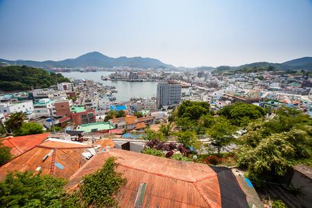 Aerial scenery of Dong Pi Rang Village Stock Photo