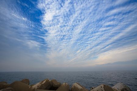 Scenery of waterbreaks and the ocean