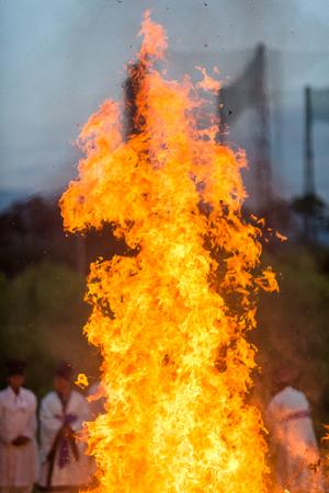Korea Danoje - Burning ceremony after sharman exorcism Stock Photo
