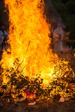 hanbok: Korea Danoje - Burning ceremony after sharman exorcism Stock Photo