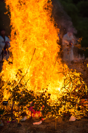 Korea Danoje - Burning ceremony after sharman exorcism Stock Photo