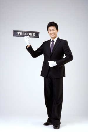 Asian welcome sign
