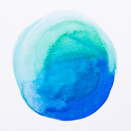 purple, blue - Watercolor hand painted circle