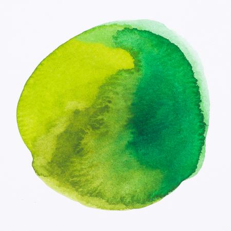 green - Watercolor hand painted circle