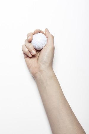 화이트 절연 손을 잡고 골프 공