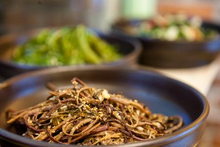Korean food - Stir-fried ferns Stock Photo