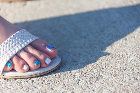 De voeten van de vrouw Stockfoto
