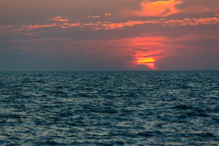 Dramatic sunset in Jamjin Island,Incheon,South Korea Stock Photo