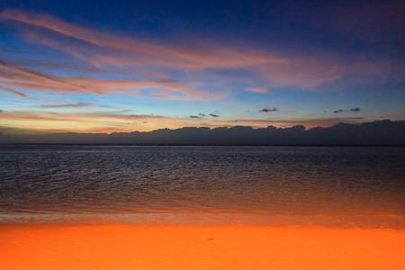 Sunset on beach, Guam