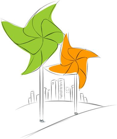 Business sketches of pinwheel