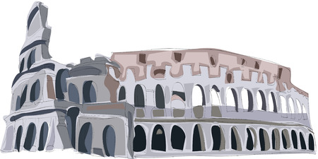 Painting of the Colosseum 向量圖像