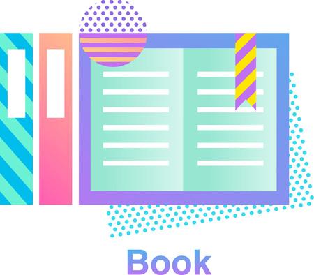 Diseño de logotipo colorido libro Foto de archivo - 89913061