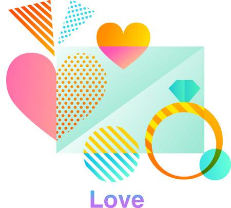 Love colorful  design Illustration