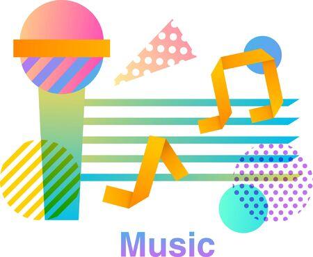 Music colorful  design Illustration