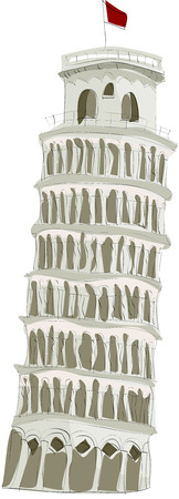 Painting of the Leaning Tower of Pisa