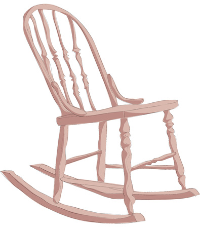 Painting of rocking chair
