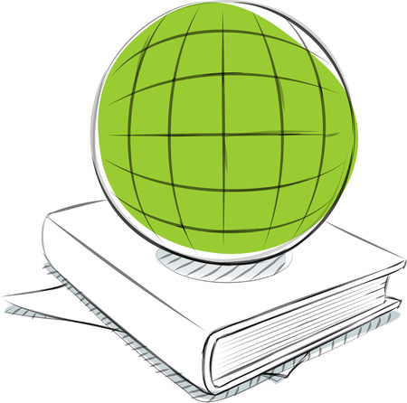 Business sketches of globe book Ilustrace