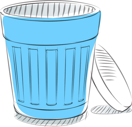 Business sketches of trash can Иллюстрация