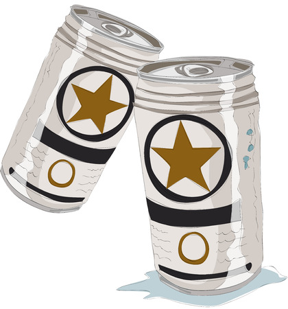 Beer cans vector illustration