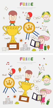 Prize story template with icons